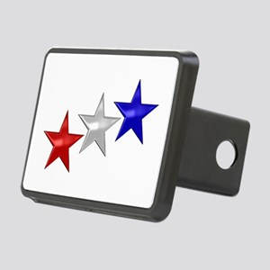 Three Shiny Stars Rectangular Hitch Cover